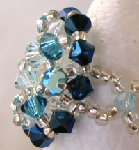 Addison blue bead ring instructions