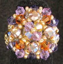 Automne flower Addison bead ring instructions
