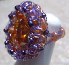 Violet astral Europa bead ring