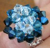 Blue Gomera bead ring instructions