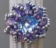 Blue iridescent Syros bead ring kit