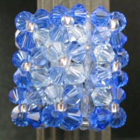 Blue Langlade bead ring instructions