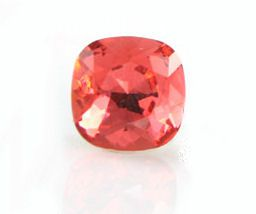 12mm Swarovski 4470 Square Fancy stone :  Padparadscha