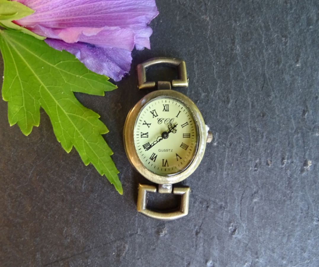 Antique bronze round watch face