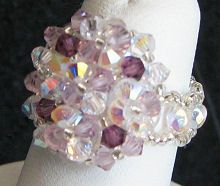 Crystal Amethyst Arz bead ring instructions