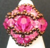 Fuchsia Feroe bead ring pattern