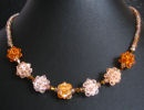 Golden bead clusters necklace kit