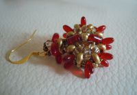 Red Indiana earrings tutorial