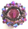 Magenta Ceylan bead ring pattern