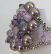 Mauve Oléron bead ring kit