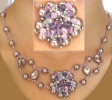 Mauve Oleron necklace instructions