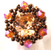 Peach Appoline bead ring pattern