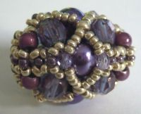 Violet Omega beaded bead kit