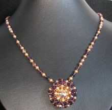 Plum golden latitude Necklace instructions
