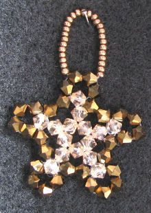 Golden crystal hanging Star