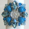 Turquoise Hoedic bead ring instructions