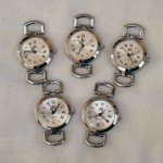 5 silver vintage round  watch faces