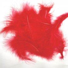 Plumes de marabout coloris rouge pour créations