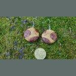 Boucles d'oreilles en loupe de bois