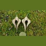 Boucles d'oreilles en bois exotique