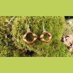 Boucles d'oreilles avec 7 essences de bois