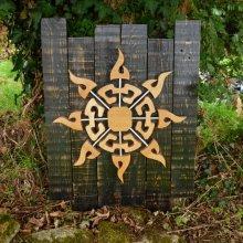 'Soleil de mélèze' cadre décoratif en bois