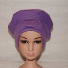 Bonnet polaire violet + noeud
