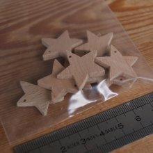 Figurine miniature etoiles a 5 branches percées, decoration de Noel a decorer et suspendre