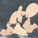 5 deco pour pâques ou Noel au choix a peindre a suspendre bois d'erable massif fait main