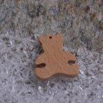 Breloque ourson bois fait main