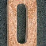Chiffre 0 en bois  massif 5 cm decoupé manuellement