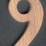 Chiffre 9 ht 8cm en bois a peindre a coller