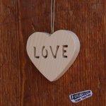 Coeur bois LOVE, Saint Valentin, mariage, noce de bois