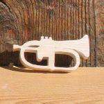 Figurine miniature Bugle en bois massif fait main