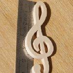 Figurine clef de sol ht 6cm deco mariage theme musique bois massif fait main embellissement scrapbooking