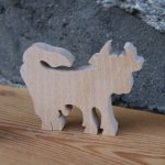marque place vache mariage theme animaux de la ferme