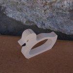 Rond de serviette Canard ou Caneton en bois massif a personnaliser