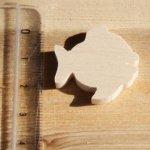 figurine miniature  poisson  ep:3mm a peindre et a coller bois d'erable massif fait main