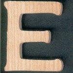 Lettre E en bois hauteur 5cm a coller