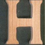 Lettre H en bois a peindre et a coller hauteur 5 cm