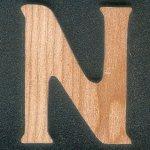 Lettre N en bois massif a peindre et a coller, fait main