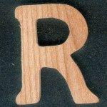 Lettre R en bois de frene massif fait main