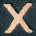Lettre X en bois hauteur 5 cm