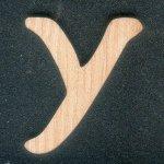 Lettre Y en bois massif a peindre et a coller, fait main