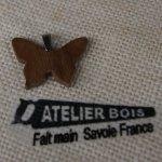 pendentif papillon bois de noyer bijoux bois et nature