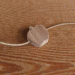 perle bois pomme percée Horizontalement a decorer collier enfant fait main hetre massif