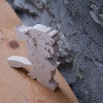 sorcière halloween puzzle 9 pieces en bois de hetre decoupe manuelle