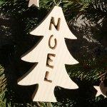 Sapin Boule de Noel 12 cm en bois