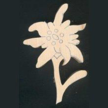 Edelweiss en bois découpée à sculpter, ébauche tilleul