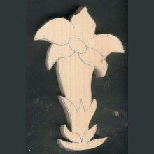 Gentiane en bois  découpée à sculpter, ébauche tilleul